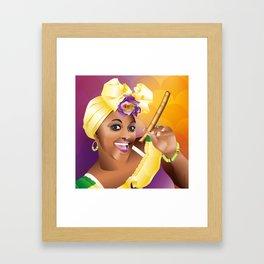 "Lilia - ""Havana woman"" Framed Art Print"