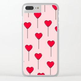 Heart Lollipops Clear iPhone Case
