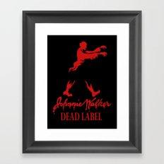 Johnny Walker Dead Label Framed Art Print