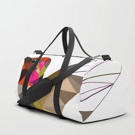 Pink hummingbird geometric bird Tropical Nature Duffle Bag