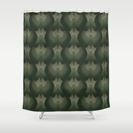 Dragon Scales - Moss  Shower Curtain