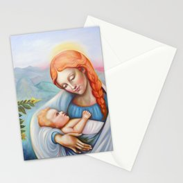 Maria and child. Madonna Stationery Cards