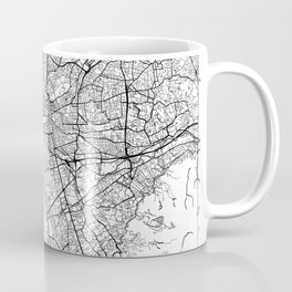 Marseille Map White Coffee Mug