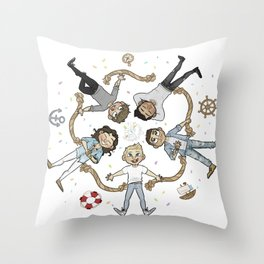 Ring of cutes Throw Pillow