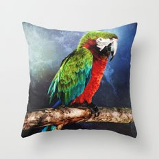 Mister Macaw Throw Pillow