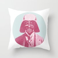 darth vader Throw Pillows featuring Darth Vader by Les petites illustrations