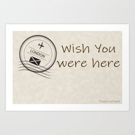 I love the traditional means of communication.  The handwritten message when travel was not as easy. Art Print