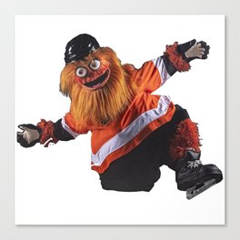 Gritty Flyers Mascot Canvas Print