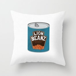 Lion Beans! Throw Pillow