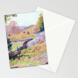 Willard Metcalf Hillside Pastures—September Stationery Cards