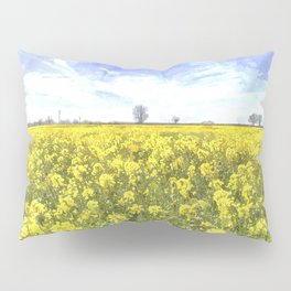 Summer Farm Trees Art Pillow Sham