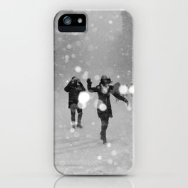 Snow in winter iPhone Case