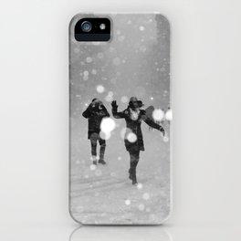 Snow in winter iPhone Case