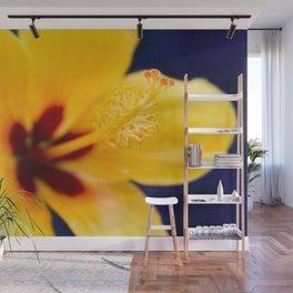 Hibiscus Lemon Drop Tropical Fancy Flowers Wall Mural