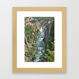 Lamar Valley River Framed Art Print