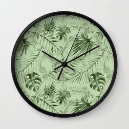 Watercolour Palm Leaf X Wall Clock