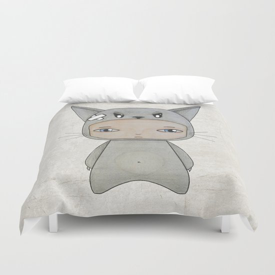 A Boy - Cat Duvet Cover