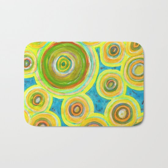 Circular Sky Lights Bath Mat
