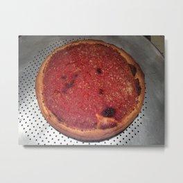 Chicago Deep Dish Pizza Metal Print