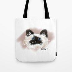 Crazy Siamese Tote Bag