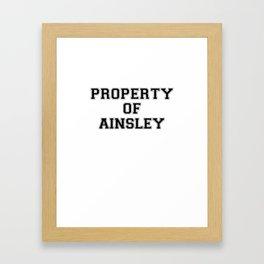 Property of AINSLEY Framed Art Print