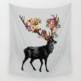 Spring Itself Deer Floral Wall Tapestry