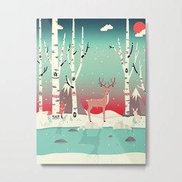 Forest Friends Metal Print