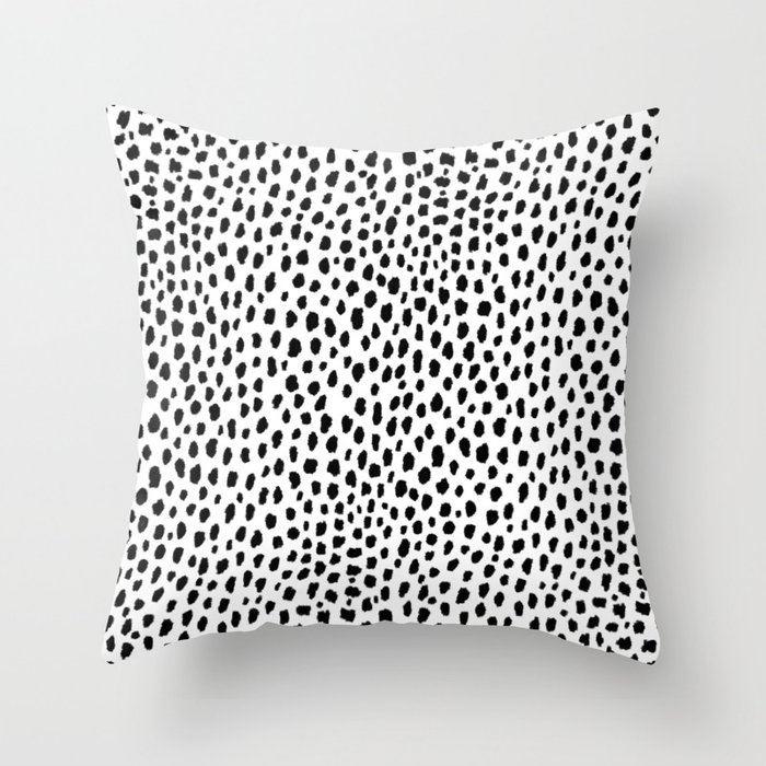 Dalmatian Spots (black/white) Deko-Kissen