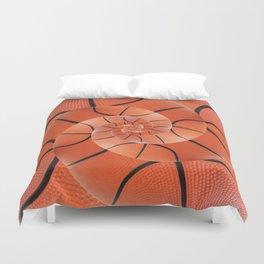 Droste Basketball Spiral  Duvet Cover