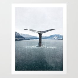 Whale In A French Lake Art Print