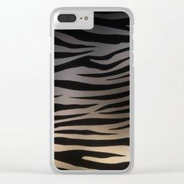 Zebra Sunset Clear iPhone Case