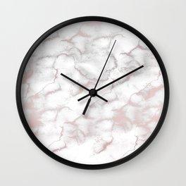 Rose Gold Pink & Grey Marble Wall Clock