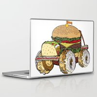 junk food Laptop & iPad Skins featuring junk food car by immiggyboi90