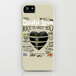 Sushi Love Cover iPhone Case