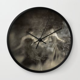 Dance in smoke Wall Clock