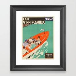 Vintage poster - Lake Winnipesaukee Framed Art Print