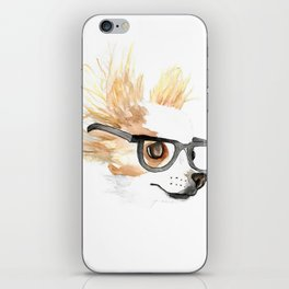 Chihuahua Hipster iPhone Skin
