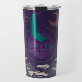 It appeared in the night sky, and it made the wind sharp Travel Mug