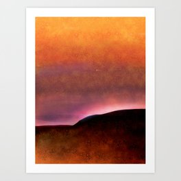 Copper, Pink and Orange Abstract Art Print