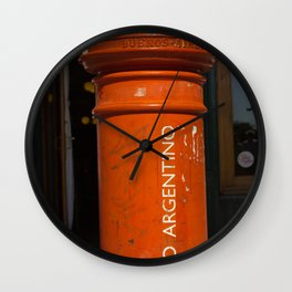 Correo Argentino Red Mailbox Wall Clock