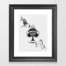 The ace of spades Framed Art Print
