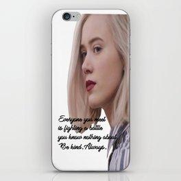 SKAM - Noora - Everyone is fighting a battle 2 iPhone Skin