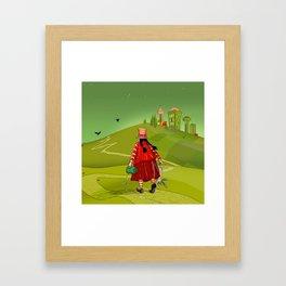 Andean woman Framed Art Print