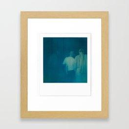the polaroid tourists Framed Art Print