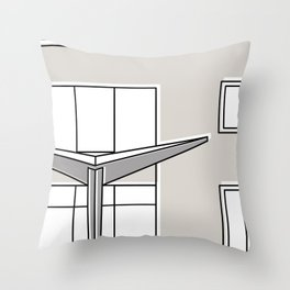 Villa Planchart -Detail- Throw Pillow