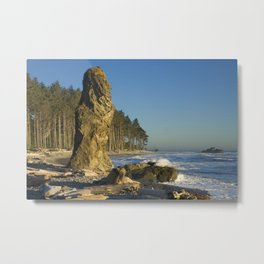 Sea Stack on Ruby Beach in Washington State Metal Print