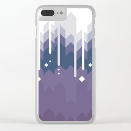 Mountains Abstract Clear iPhone Case