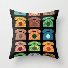 iRetro (boys) / black Throw Pillow