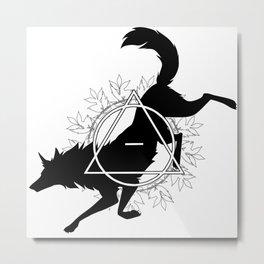 Tribal Wolf Metal Print