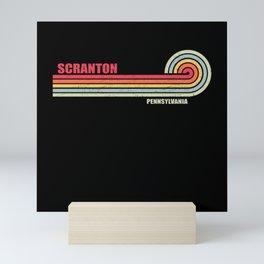 Scranton Pennsylvania City State Mini Art Print